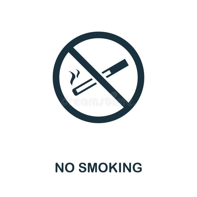 禁烟象 从防火安全象汇集的创造性的元素设计 网络设计的映象点完善的禁烟象 库存例证