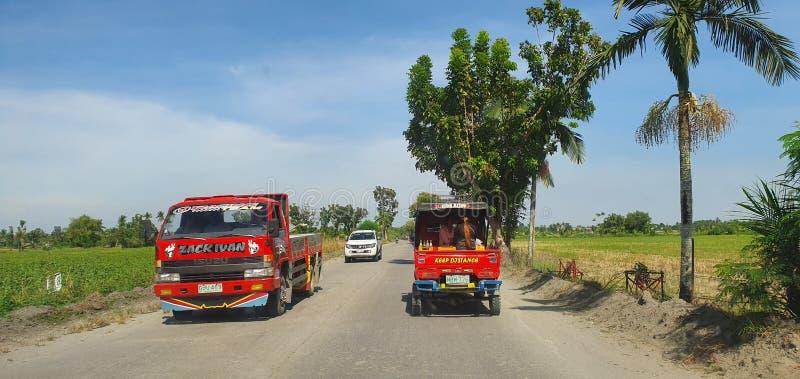 禁闭前菲律宾苏丹库达拉特公路 免版税库存图片