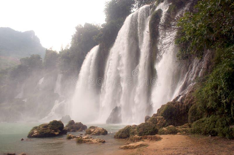 禁令gioc越南瀑布 库存图片