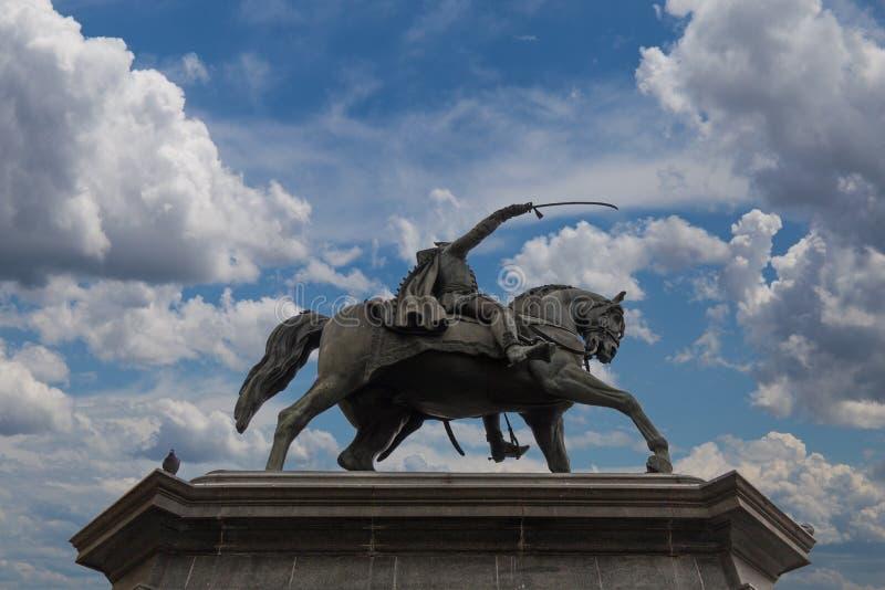禁令Jelacic纪念碑 免版税库存照片
