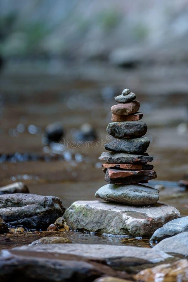禅宗和平衡本质上 图库摄影