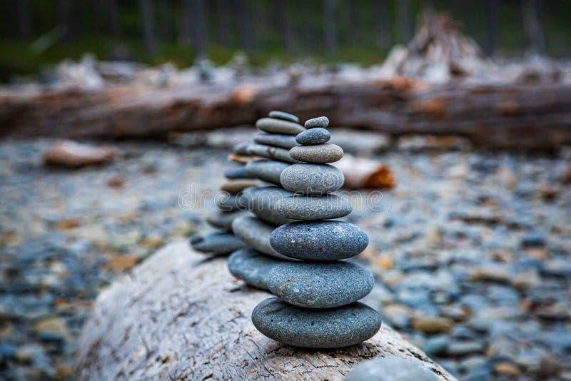 禅宗岩石 免版税库存照片