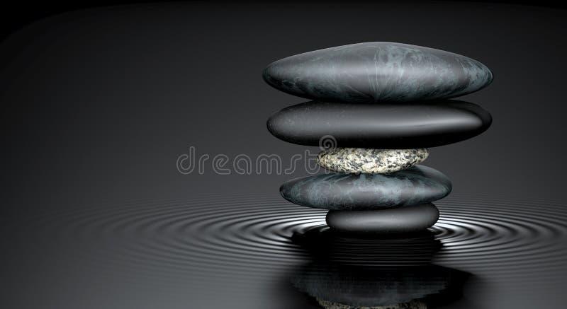 禅宗石头 向量例证