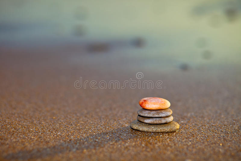 禅宗石头 免版税库存照片