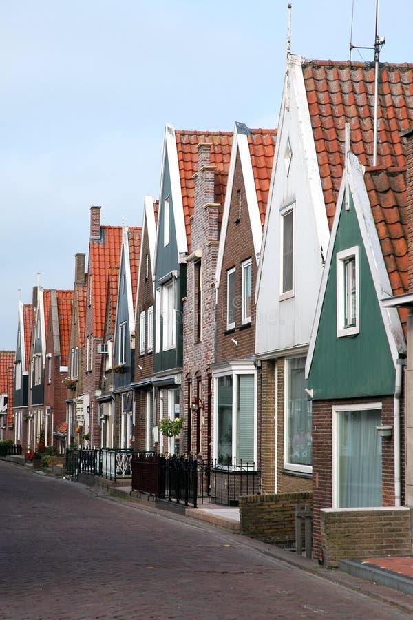 福伦丹渔村在荷兰 库存图片