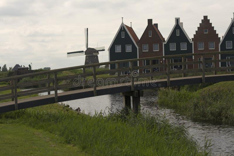 福伦丹-一个小镇在荷兰 免版税库存照片