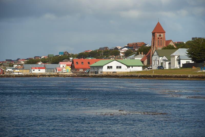 福克兰群岛首都 库存图片