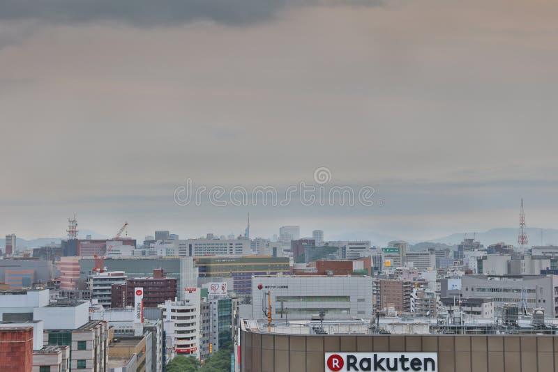 福冈大城市在九州 2016年 图库摄影
