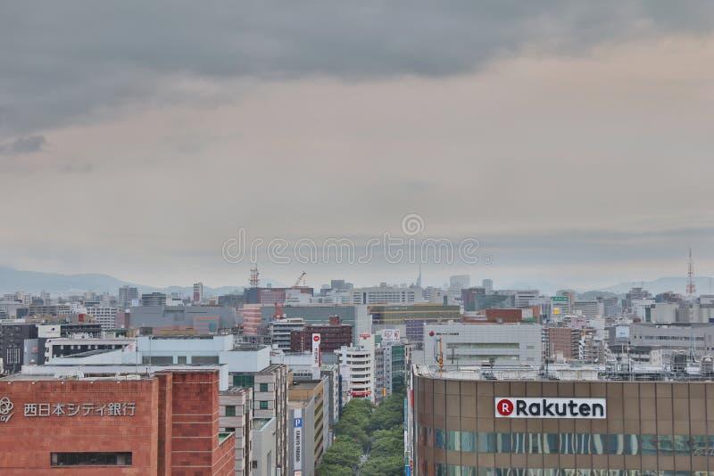 福冈大城市在九州 2016年 库存照片