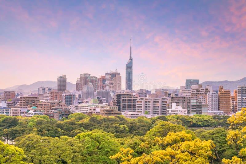 福冈市地平线在日本 免版税库存照片