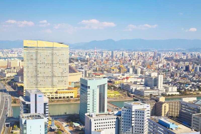 福冈市看法在福冈,日本 免版税库存照片