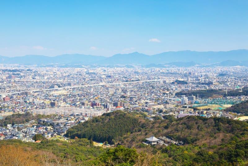 福冈市看法在福冈,日本 免版税图库摄影