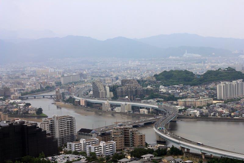 福冈市视图 免版税库存图片