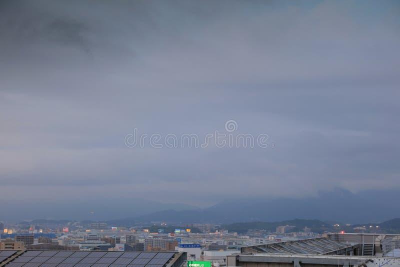 福冈是大城市在九州 免版税图库摄影