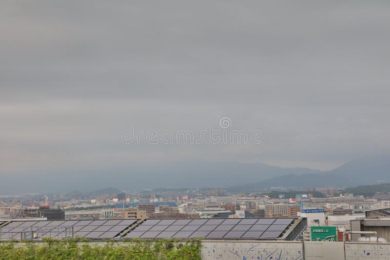 福冈是大城市在九州 库存图片