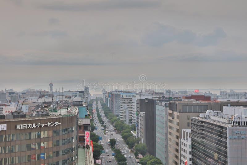 福冈是大城市在九州 库存照片