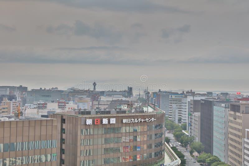 福冈是大城市在九州 图库摄影