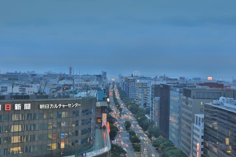 福冈是大城市在九州 免版税库存图片