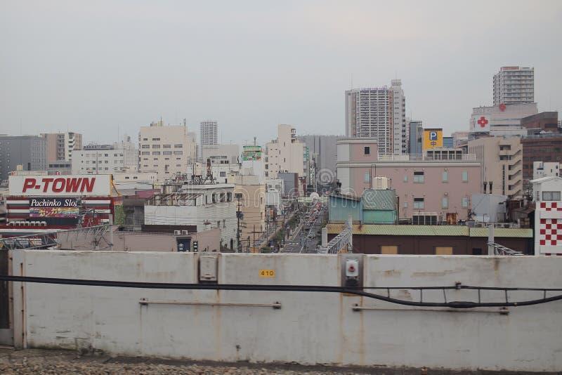 福冈都市风景看法在九州,日本 库存照片