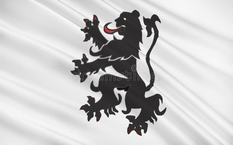 福尔巴,法国旗子  库存例证
