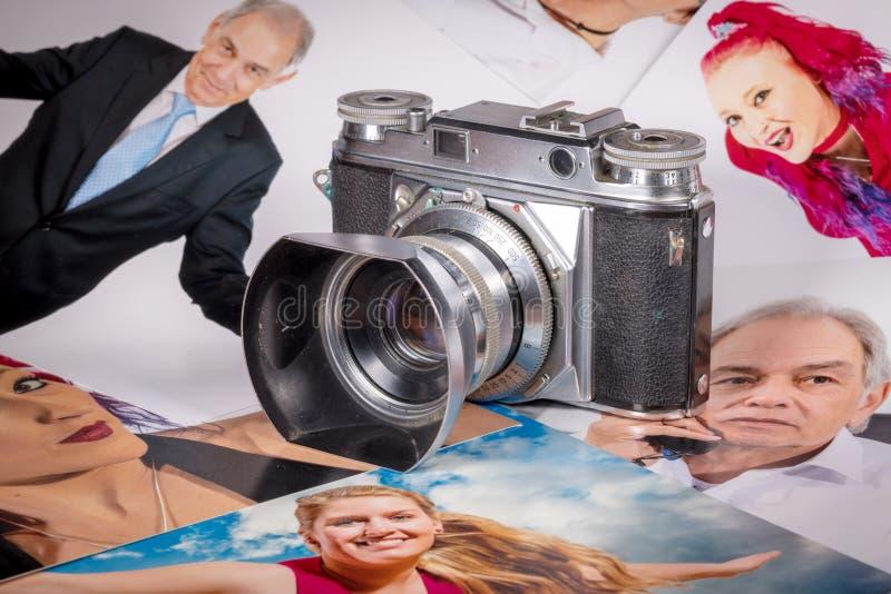 福托照相机在与人画象的几张图片  图库摄影