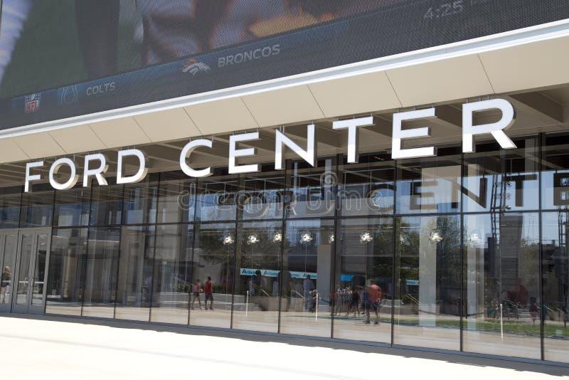 福特中心在城市Frisco 库存照片