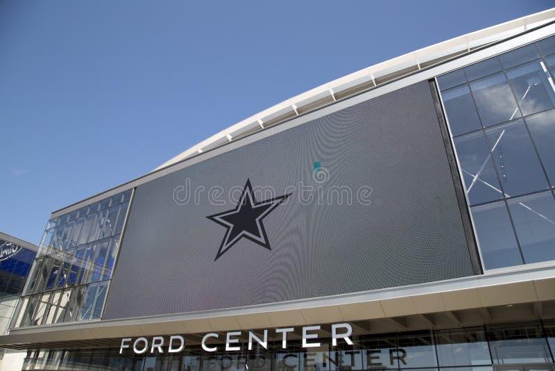 福特中心在城市Frisco TX美国 库存照片