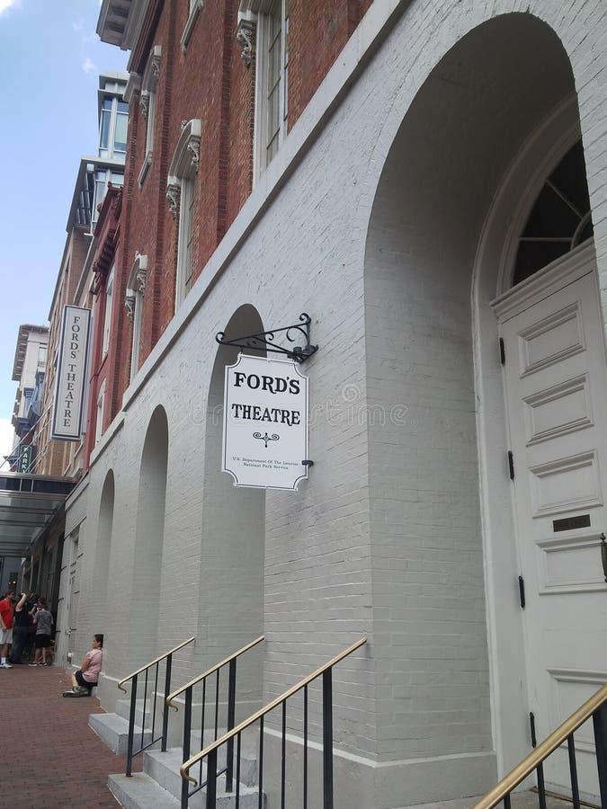 福特` s剧院美国美国dc 免版税库存照片