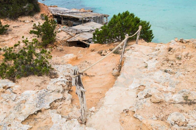 福门特拉岛海岛的Cala Saona 免版税库存图片