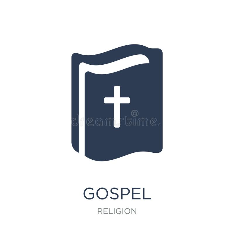 福音书象 在白色背景的时髦平的传染媒介福音书象 库存例证