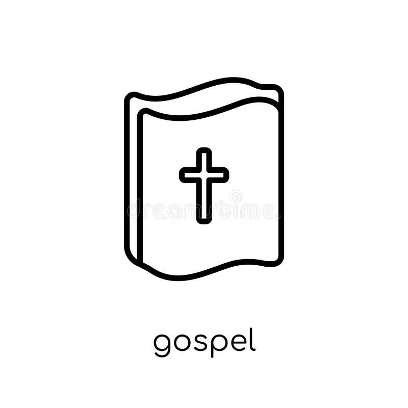 福音书象 在whi的时髦现代平的线性传染媒介福音书象 向量例证