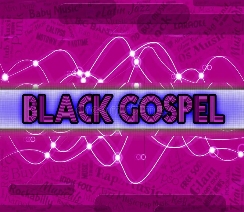 黑福音书代表声槽和音响 库存例证