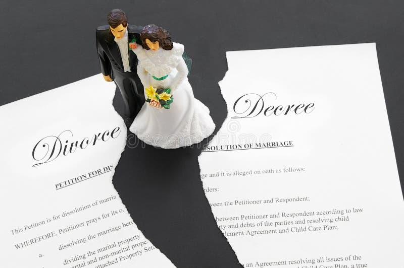 离婚已分解 免版税库存图片
