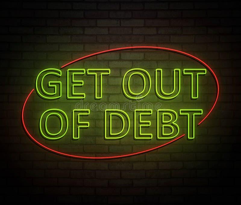 离开债务概念 向量例证