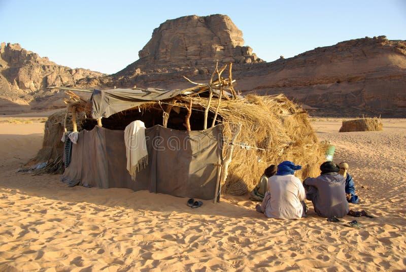 离开利比亚村庄 免版税库存照片
