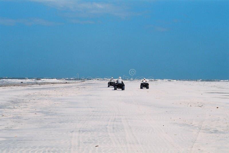 离开的冒险海滩 免版税库存图片