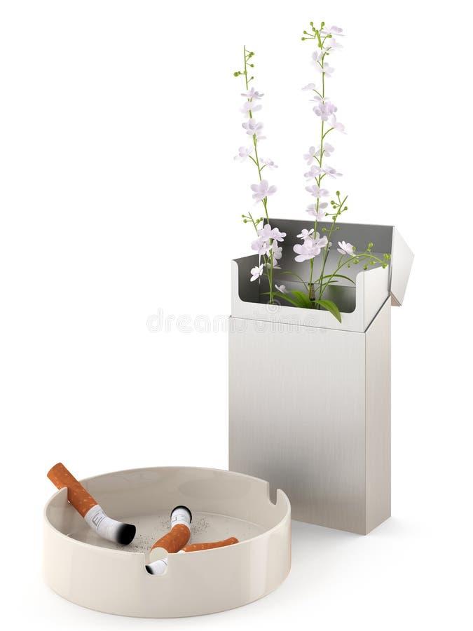 离开的抽烟 向量例证