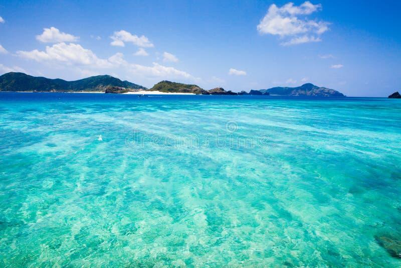 离开的海岛热带的冲绳岛 免版税库存图片