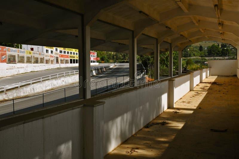 离开赛跑复杂正面看台, Floriopolis,切尔达,西西里岛 免版税库存照片