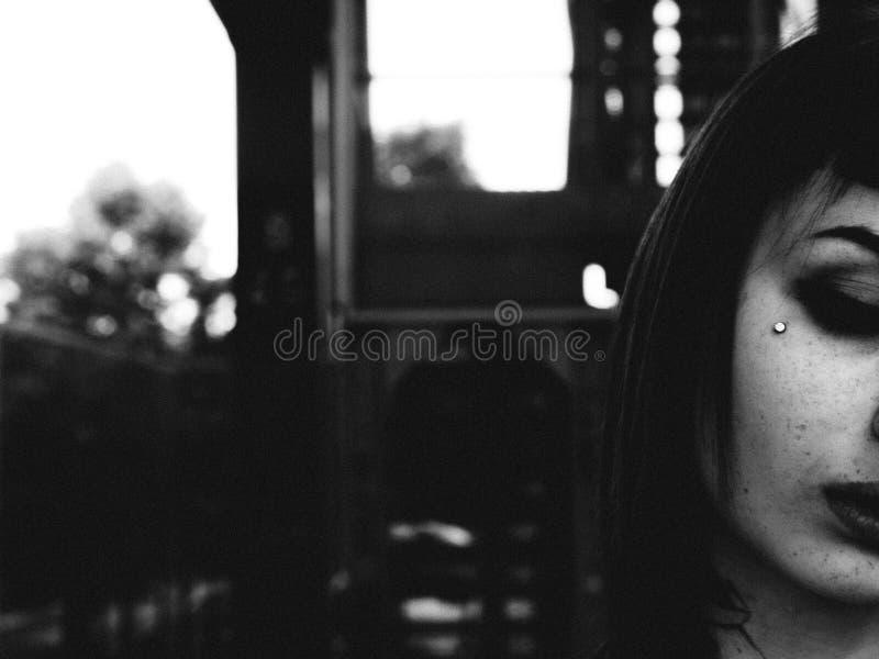 秀丽与雀斑的女孩画象 图库摄影