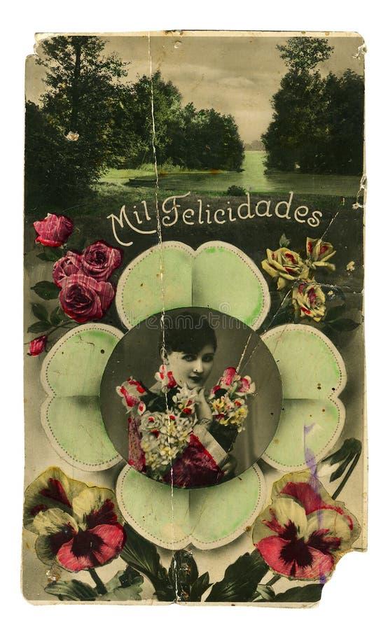 秀丽五颜六色的照片葡萄酒妇女 库存照片