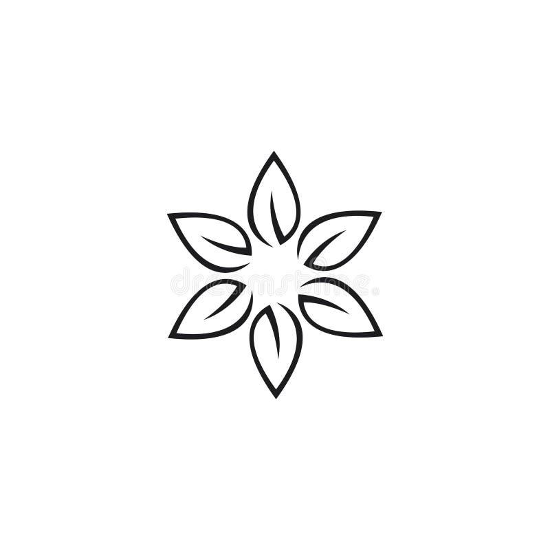 秀丽传染媒介花设计商标模板 向量例证