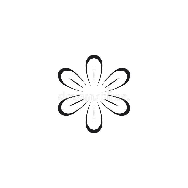 秀丽传染媒介花设计商标模板 皇族释放例证