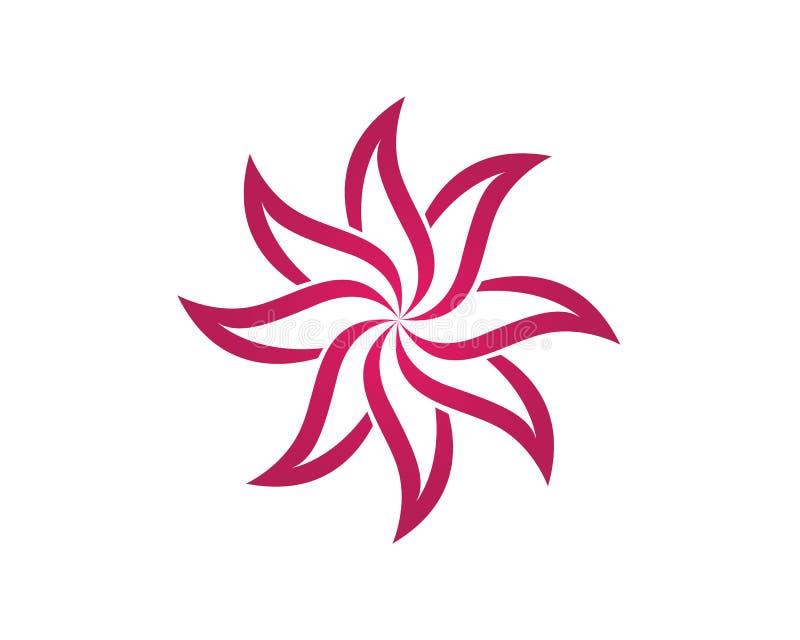 秀丽传染媒介莲花设计商标模板象 向量例证