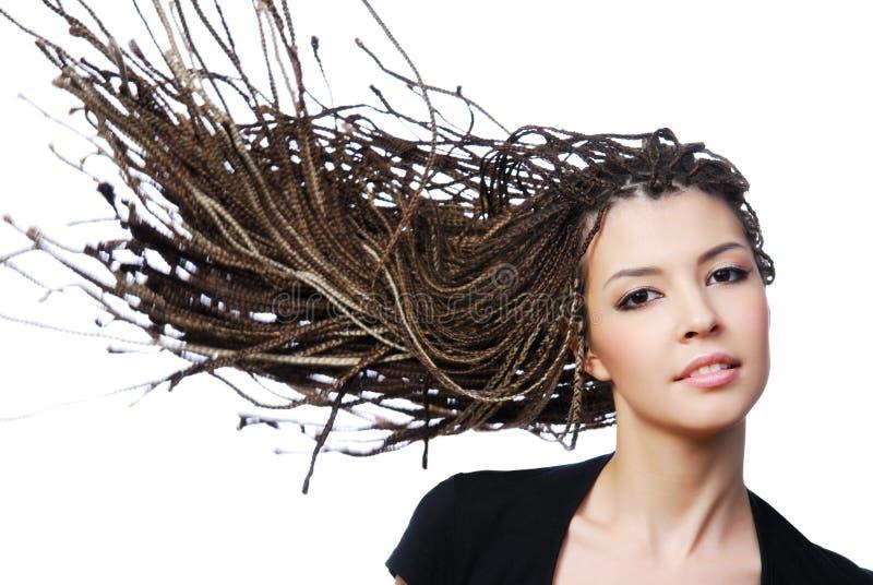 秀丽创造性头发 库存照片