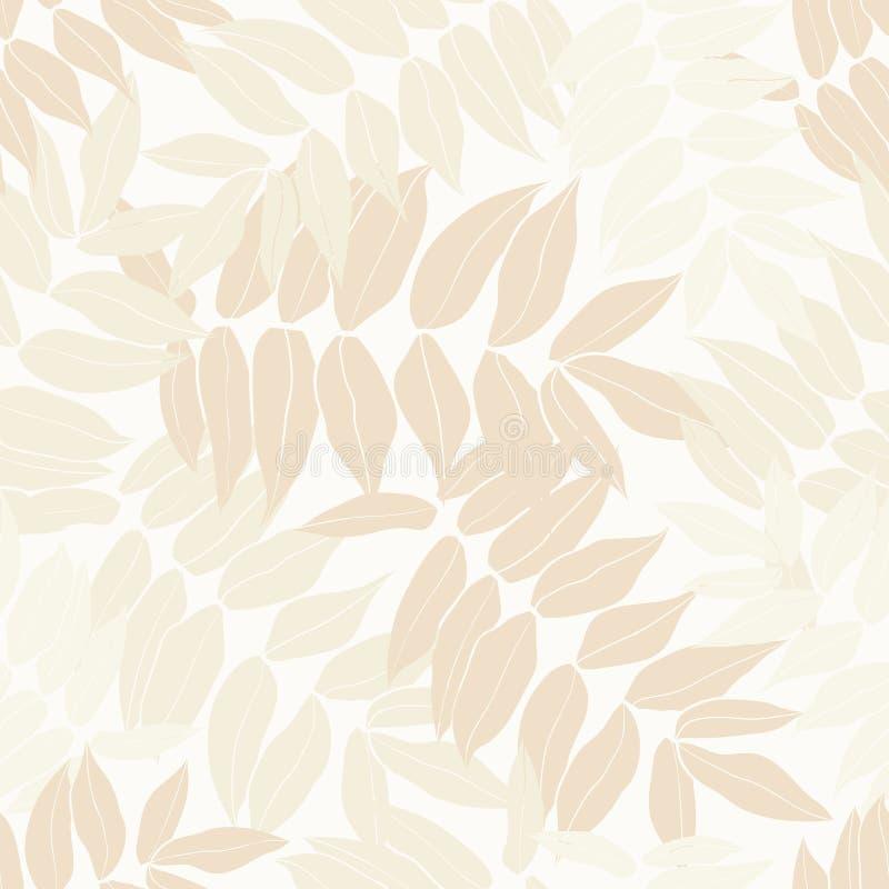 秀丽动画片热带无缝的叶子样式设计 皇族释放例证