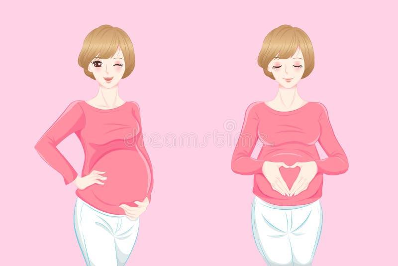 秀丽动画片孕妇 向量例证