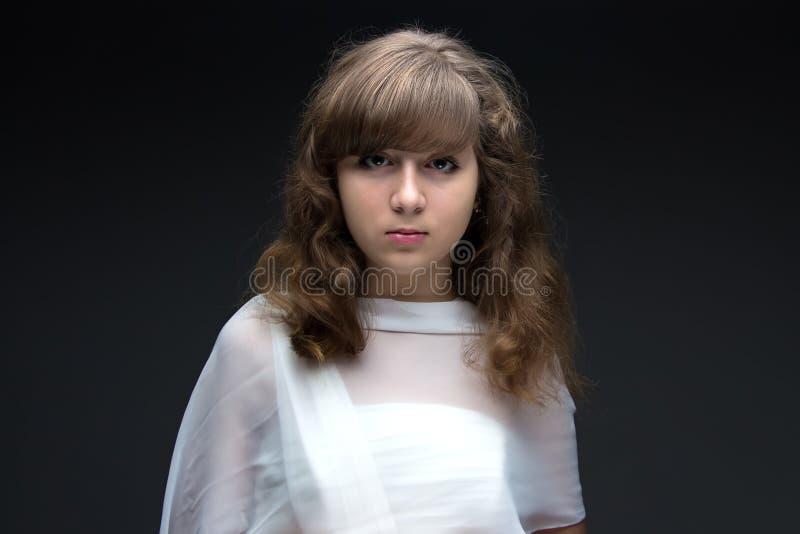 秀丽十几岁的女孩的图象 库存照片