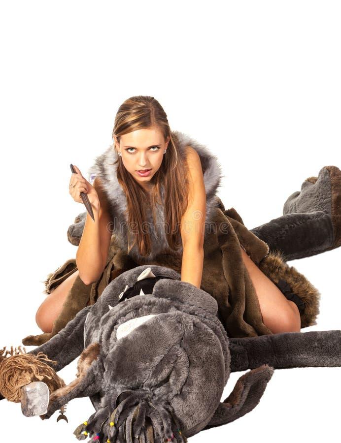 秀丽和野兽 免版税库存图片