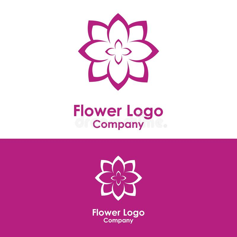 秀丽商标模板,莲花设计传染媒介,象 向量例证